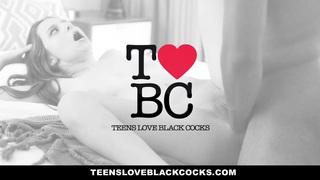 TeensLoveBlackCocks - Skinny Kacy Lane Rides Big Black Cock