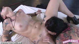 BurningAngel Joanna Angel and Emo Slut make guy Watch