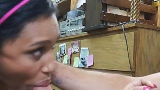 Brunette Slut Banged On Desk In Back Office At Pawn Shop