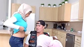 Arab muslim step mom and step daughter in taboo threesome