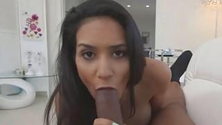 Cutie babe Tia Cyrus fucking a monsterous cock