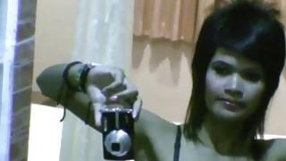 Thai girlfriend doing selfies