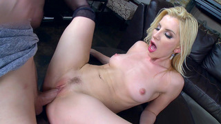Ashley Fires ultimately getting stuffed by his fat rod