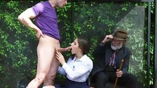 Horny chick Abella Danger sucking a huge cock