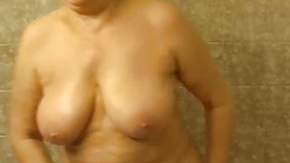Granny masturbating in the bathroom