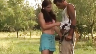 Sexy beauty decides to please handicaped man with a good fuck