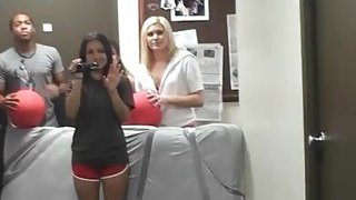 Rowdy dorm orgy with agreeable hotties and studs