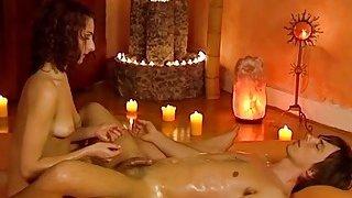Handjob Massage From Brunette MILF Feels So Right