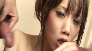 Slutty Ageha Kinashita first wants to taste dicks before fucking it