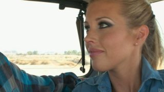 Hitchhiker Samantha Saint wants to have some fun