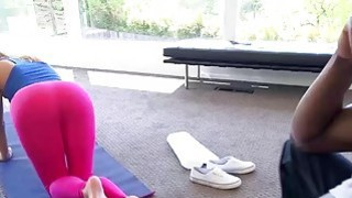 Hot yoga instructor Layla Price having interracial rough sex