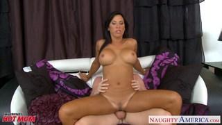 Hottie mom Krissy Lynn gets big tits cummed