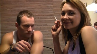 Norma in public toilet fuck scene featuring a beautiful gal