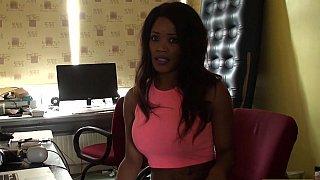 Ebony beauty is scared of BJs