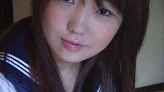 Sweet Japanese teen Gekisha poses on cam teasing you