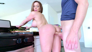 Buxom mom Kendra Lust getting a proper pounding