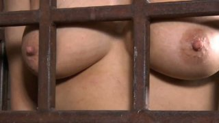 Dirty-minded whore Rain DeGrey gets locked in the small cell