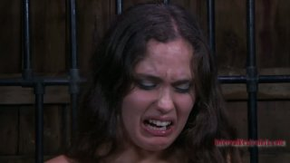 Voluptuous bitch Charlotte Vale is tortured with fire and wooden skewers