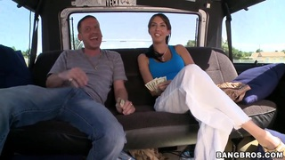 Sexy Karina gets a hot ride and receives a stiff surprise on the way