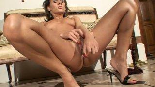 Tremendous wanker Zuzana Z masturbates her wet pussy