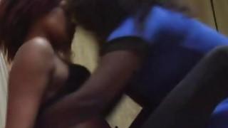 African lesbians Aisha & Lisha tongue their pussies