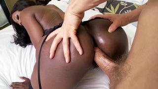 Black mom Diamond Jackson anal fucked doggy style