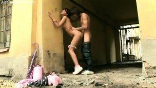 Beautiful Teen Girl Has Sex In The Public