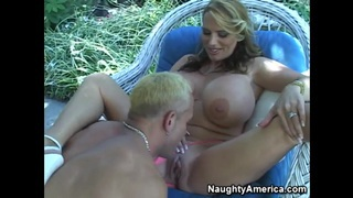 Huge melons of dazzling lickerish blonde Lisa Lipps