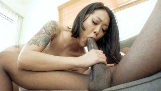 Asian Saya Song guzzles the huge black python