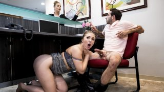 Big-dicked stud gives Lena Paul a helping hand