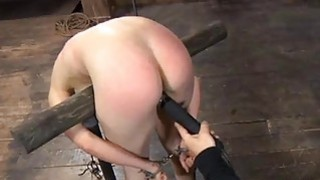 Beauty receives facial torment during bdsm play