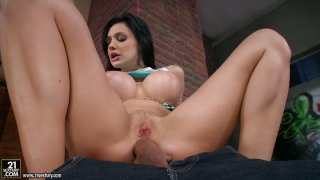 Cock hungry brunette Aletta Ocean gets her asshole gaped again