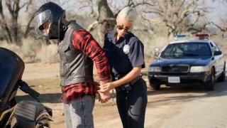 Cop Bridgette B arrested biker Charles Dera