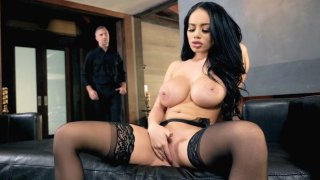 Plastic Victoria thoroughly banged in front of fireplace