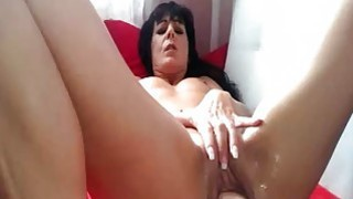 Wild amateur MILF pussy fisting and squirting orga