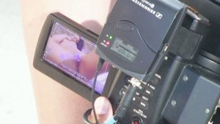 Behind the scene video with solo masturbating girl Cathy Heaven