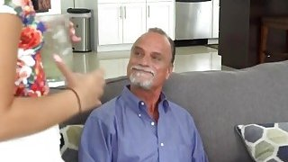 Teen gets banged by step dads friend in bedroom