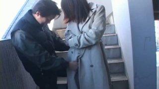 Horny Japanese girl Mana Iizuka is fingerfucked in a metro station