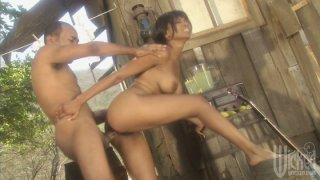 Crazy pounding for village style girl Kaylani Cream