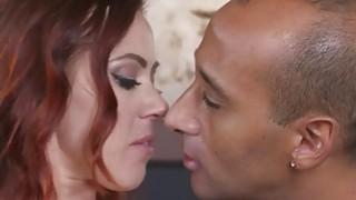 Cheating redhead Milf bangs big black cock