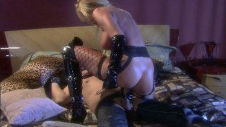 Severe and rapacious blondie Nicole Sheridan fucks toughly and ardently